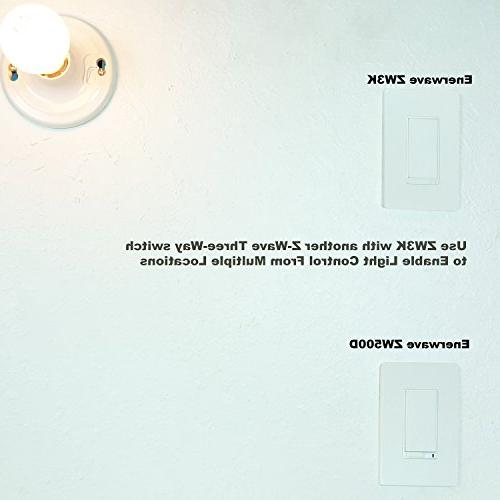 Enerwave Z-Wave 3-Way ADD Auxiliary Switch W/ LED locator and Two Free Covers ***Need to ZWN-500D