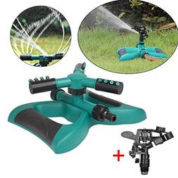 LiPing Lawn Sprinkler, Automatic 360° Rotating Adjustable G