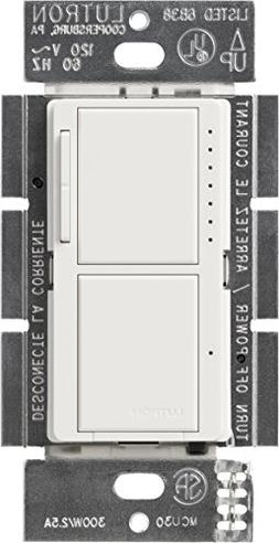 Lutron MA-L3S25-WH Maestro 300 Watt Single-Pole Dual Dimmer