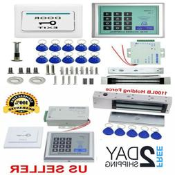 1100lbs Magnetic Electric Door Lock Kit ID Card Access Contr