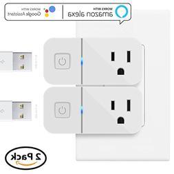 Mini Smart Plug Compatible with Alexa, Maxonar 2 Pack Wifi S