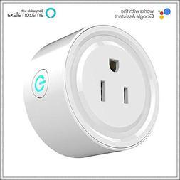 TechCA mini Wi-Fi Smart Plug, Google home, Alexa IFTTT compa