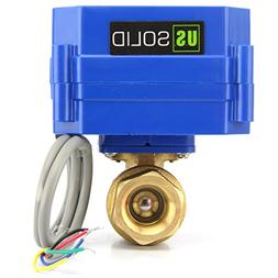 """Motorized Ball Valve 1"""" Brass Electrical Ball Valve with Ful"""
