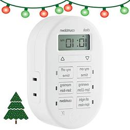 myTouchSmart 26892 Indoor Simple Set Plug-in Timer, White