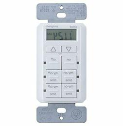 myTouchSmart In-Wall Digital Timer, White, with Battery Back