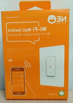 neo wi fi light wall switch white