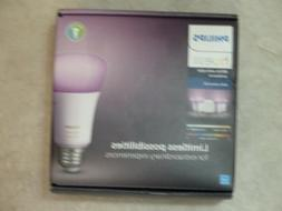 NEW Philips Hue Bulb Starter Kit White and Color Changing St