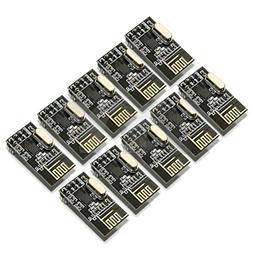 kuman 10pcs nRF24L01+ 2.4GHz Antenna Wireless Transceiver RF
