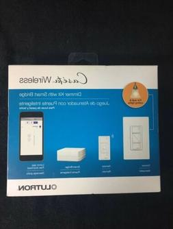 Lutron P-BDG-PKG1W Caseta Wireless Dimmer Kit with Smart Bri