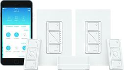 LUTRON P-BDG-PKG2W-A Caseta Wireless Smart Lighting Deluxe S