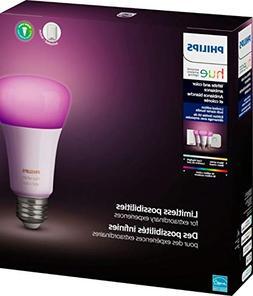 Philips Hue Phillips-HUE LED Lightbulbs, 3-Bulb Starter Kit,