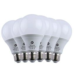 cjc 6-Pack 9W Plus Size Bulbs, E27/E26 810Lumens LED Dusk to