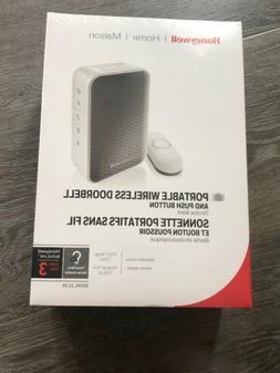 Honeywell Portable Wireless Doorbell with Strobe Light Smart
