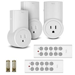 Etekcity Wireless Remote Control Electrical Outlet Switch fo