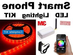 RED - - SmartPhone WiFi controlled LED Lights works with And