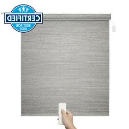 Remote Control Gray Home Automated Motorized Roller Shade El