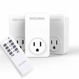 Remote Control Outlet Wireless Light Switch Power Plug By An