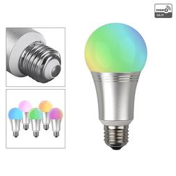 RGB Smart Light Bulb E26 16M Colors Home Automation Android