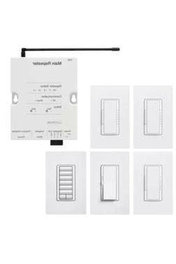 Lutron RR-FDN-CL-WH System Package, White, Smart Home Automa