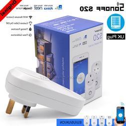 Sonoff S20 UK WIFI Smart Plug APP Remote Control Home Automa