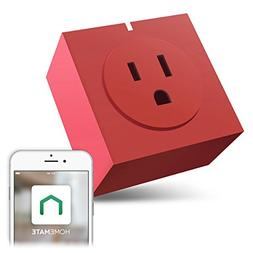 Zettaguard S31-Red Wi-Fi Smart Plug Outlet, Compatible with