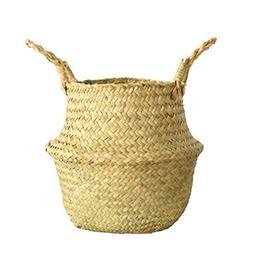 LiPing Seagrass Wicker Basket Wicker Bloempot Vetplant Bloem