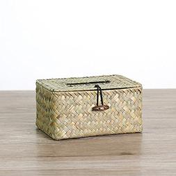 Natural Seaweed Storage Box Car Tissue Box Table Desktop Org