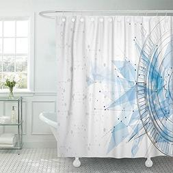 """Emvency Shower Curtain 72""""x72"""" Polyester Fabric Software Int"""