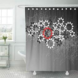 Emvency Shower Curtain Waterproof Adjustable Polyester Fabri