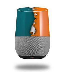 Skin Wrap for Google Home Ripped Colors Orange Seafoam Green