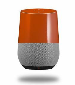 Skin Wrap for Google Home Solids Collection Burnt Orange by