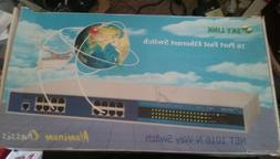 SKY LINK 16 Port FAST ETHERNET SWITCH New Aluminum Chassis
