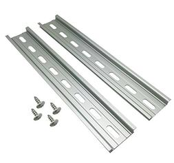 "Electrodepot Slotted Aluminum DIN Rail, 35mm x 8"", Silver"