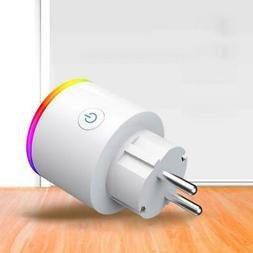 Smart Electrical Plug Wifi Socket Phone APP Voice Remote Con