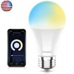 Smart LED Light Bulb,E26 WiFi Dimmable LED Bulbs Work with A