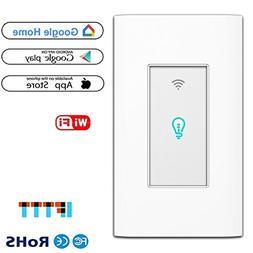 Smart Light Switch, WiFi Wall Wireless Touch Switch Compatib