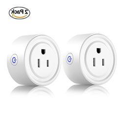 Smart Plug 2 Pack Wi-Fi Enabled Mini Smart Socket Compatible