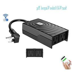Smart Wi-Fi Outdoor Wateproof Plug - Remote Control Outlet/M