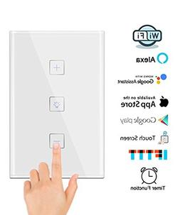 Smart WiFi Dimmer Switch, Gamefun Wireless Light Switch Work