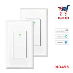 Smart Wifi Light Switch, No Hub Required, Phone Remote Contr