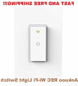 Ankuoo Smart WiFi Light Switch with Remote Control and Timer