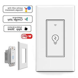 Smart WiFi Light Switch In-Wall, Wireless Lighting On/Off No