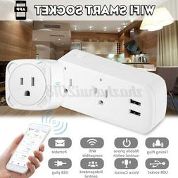 Smart WIFI US Plug Socket Power Switch APP Remote Control Ti