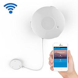 Smart WiFi Water Sensor, Flood and Leak Detector Alarm and A