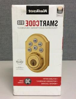 Kwikset SmartCode Z-Wave Traditional Style Deadbolt, Polishe
