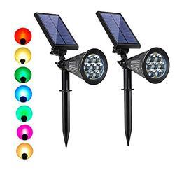 Solar spotlights Outdoor 7 LED Solar Garden Lights,Landscape
