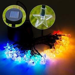 Solar String Lights 20 ft 30LEDs RGB Star Solar Powered Part
