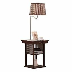 Table Floor Lamp Combination Living Room Storage Rack Dorm O