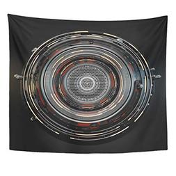 Emvency Tapestry Camera Gray Robot Abstract Circle Technical