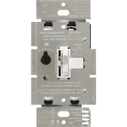 LUTRON TGCL-153PH-WH Toggler Dimmer Switch for LED, Incandes
